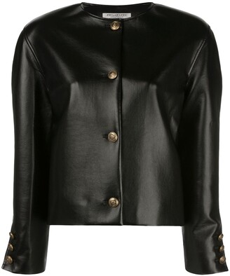 Philosophy di Lorenzo Serafini Faux-Leather Fitted Jacket