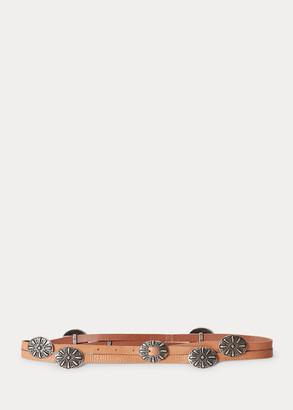 Ralph Lauren Concho Leather Wrap Belt
