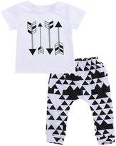 Juicart 2pcs Baby Boys Summer Cotton Clothes tops t-shirt+Short Harem Pants Suit outfits (6-12 Months)