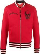 Alexander McQueen embroidered skull bomber jacket