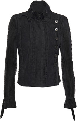 Ann Demeulemeester Cutout Layered Lace Jacket