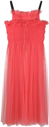 Molly Goddard Shelly smocked tulle dress
