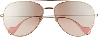 Moncler 62mm Mirrored Aviator Sunglasses