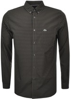Lacoste Long Sleeved Check Shirt Khaki