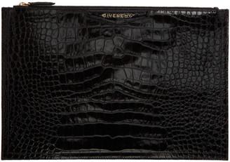 Givenchy Black Croc Antigona Pouch