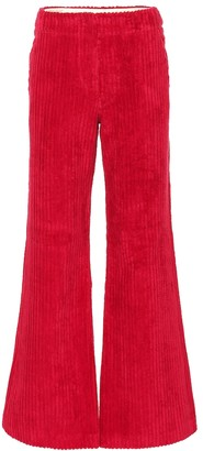 Acne Studios High-rise wide leg corduroy pants