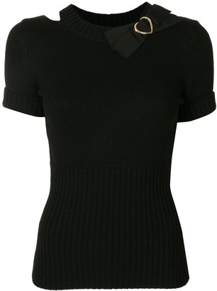 Paule Ka Bow Detail Knitted Top