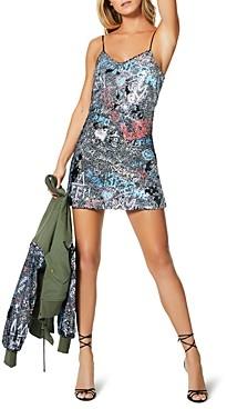 Ramy Brook Darcie Sequin Graffiti Mini Dress