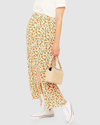 Topshop Maternity Floral Print Midi Skirt