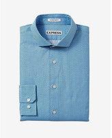 Express slim fit microprint dress shirt