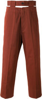 Marni cut out waistband trousers - men - Cotton - 44