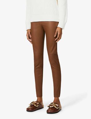 S Max Mara Sonni skinny high-rise leather trousers