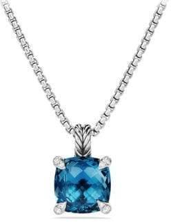 David Yurman Chatelaine Pendant Necklace with Gemstone and Diamonds