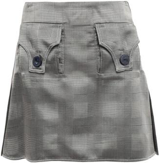 Ellery Checked Satin-jacquard Mini Skirt