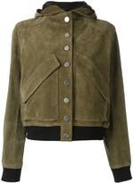 Courreges hooded short jacket