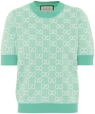 Gucci GG wool and cotton pique sweater