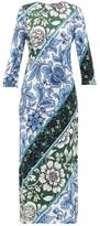 Erdem Evanna Wallpaper-print Jersey Dress - Womens - Green Print