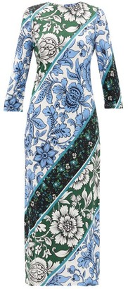 Erdem Evanna Wallpaper-print Jersey Dress - Green Print