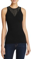 Minnie Rose Chain Neckline Sleeveless Sweater