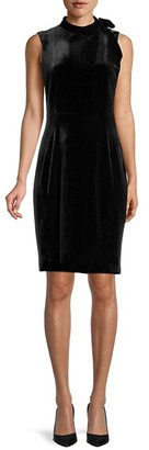 Calvin Klein Velvet Sheath Dress