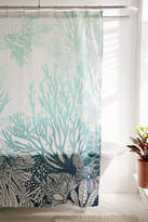 Urban Outfitters Ombre Coral Reef Shower Curtain