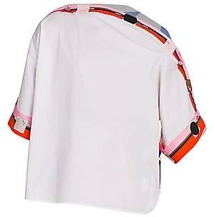 Emilio Pucci Women's Zaffiro Asymmetric Stretch-Cotton Tunic