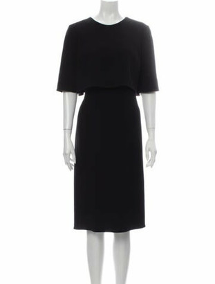 Oscar de la Renta Virgin Wool Midi Length Dress Wool