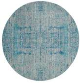 "Safavieh Mystique Collection MYS971 Rug, Light Blue/Multi, 6'7"" Round"