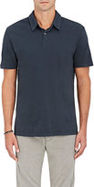 James Perse Men's Cotton Polo Shirt-BLACK