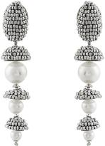 Oscar de la Renta Pearl beaded-drop clip-on earrings
