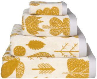 Wilson Donna Bird and Tree Towel - Mustard - Hand Towel