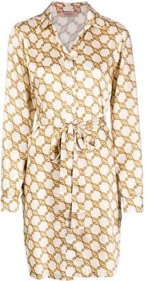 Twin-Set Monogram Print Shirt Dress