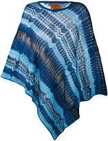Missoni zig zag crochet knit poncho - women - Cotton/Viscose - One Size