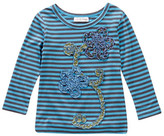 Mimi & Maggie Crinkle Flowers Tee (Toddler, Little Girls, & Big Girls)