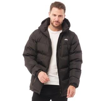 Trespass Mens Farsley Padded Hooded Jacket Black