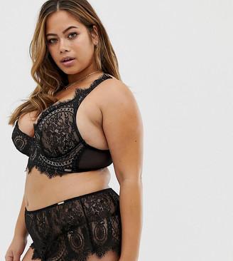 Figleaves Curve Adore lace underwear in black