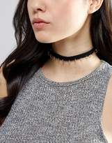 Asos Limited Edition Pierced Hoop Choker Necklace
