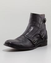 Alexander McQueen Three-Buckle Rivet Boot