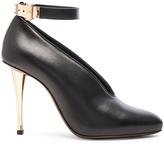 Lanvin Leather Ankle Strap & Safe Lock Pumps