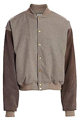 Fear Of God Men's 6th Collection Mélange Varsity Bomber Jacket