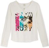 Roxy Graphic Long-Sleeve T-Shirt, Big Girls (7-16)