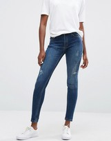 Minimum Jagger Skinny Rip Knee Jeans