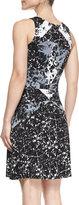Bailey 44 Cubist Marble-Print Jersey Dress