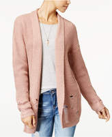 Polly & Esther Juniors' Ripped Shawl-Collar Cardigan
