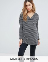 Isabella Oliver Striped Knitted Jumper