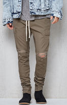 PacSun Drop Skinny Destroyed Cargo Jogger Pants