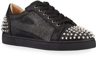 Christian Louboutin Men's Seavaste 2 Metallic Glitter Suede Low-Top Sneakers