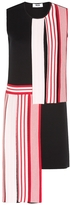 MSGM Asymmetric Striped Knit Dress