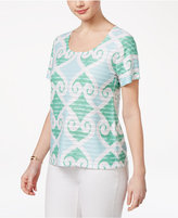 Karen Scott Print Ruffled Top, Created for Macy's