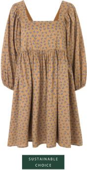 Just Female Merle Dress Snowdrop Khaki - S (36-38) | khaki | White & Blue - Khaki